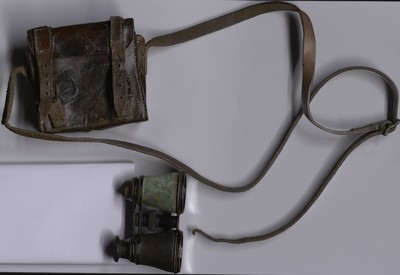 Set of field glasses and case