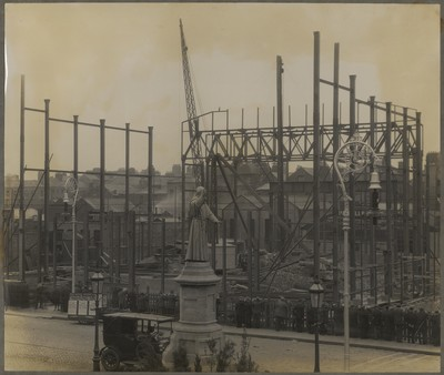 Savoy Cinema site works : view of site from first or second floor of building on opposite side of O'Connell Street