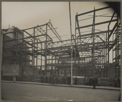Savoy Cinema site works : front viewed from centre of O'Connell Street