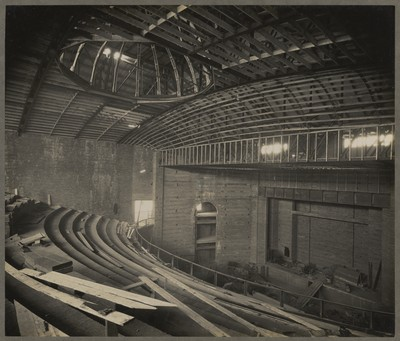 Savoy Cinema site works : internal view of almost fully enclosed auditorium space
