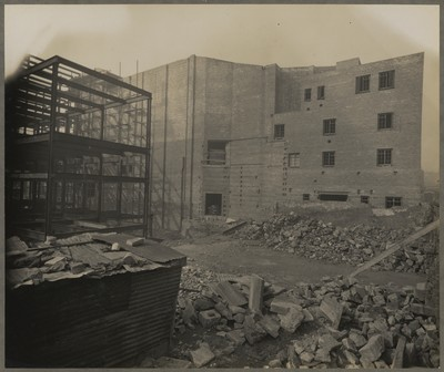 Savoy Cinema site works : external south side elevation
