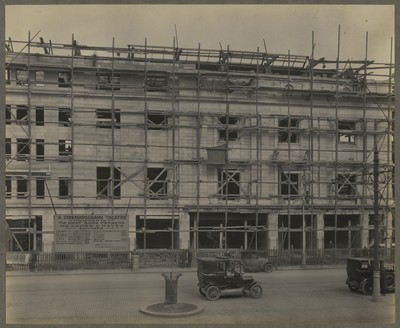 Savoy Cinema site works : façade stone work nearing completion