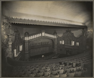 Savoy Cinema post completion : view of the auditorium from left side of balcony towards the screen