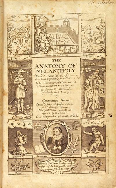 BURTON, Robert, The anatomy of melancholy: w