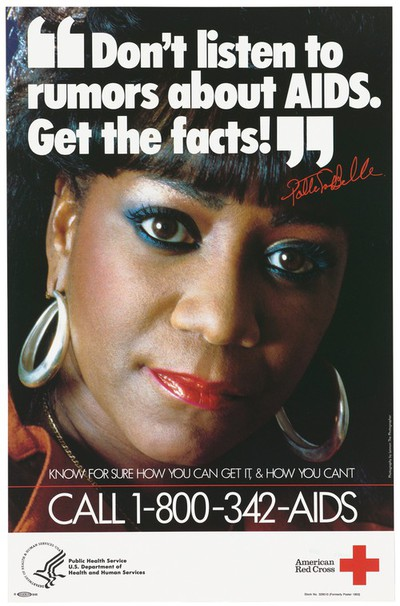 Advert for AIDS and the American Red Cross