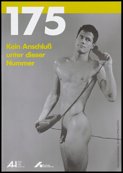 Advert for the AIDS helpline by the Deutsche AIDS-Hilfe