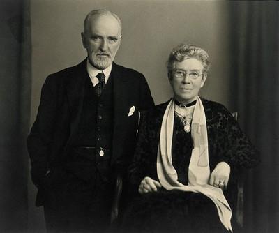 Sir Arthur Newsholme and Mrs Arthur Newsholme. Photograph by H.J. Whitlock & Son, 1931.