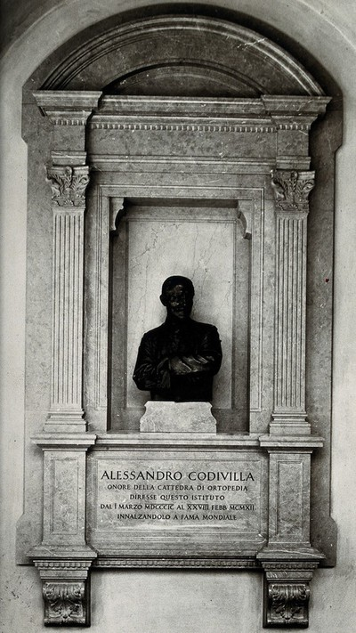 Alessandro Codivilla. Photograph after a bust.