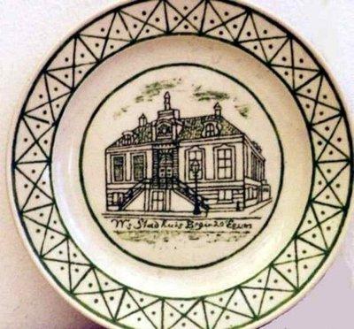 Sierbord:'W's Stadhuis Begin 20e eeuws , ca. 1900-1957
