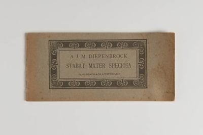 Muziekstuk 'Stabat Mater Speciosa', door A.J.M. Diepenbrock