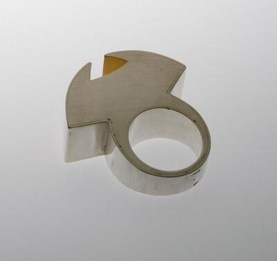 Ring van zilver en goud