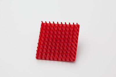 Borstelbroche rood