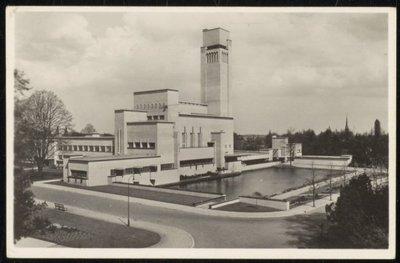 Stadhuis/Raadhuis, Dudokpark 1, Hilversum, Architect W.M. Dudok (1884-1974). Bouwperiode van het stadhuis van 1928-1931.