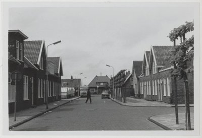 Huizen in de Rozenstraat. Rechts de Dahliastraat.