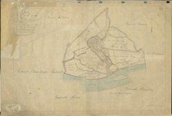 Kadastrale overzichtskaart van de gemeente Schiedam met de gemeentegrenzen van na 31 december 1867.