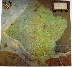Reproductie van de kaart van het Hoogheemraadschap Delfland van 1646.