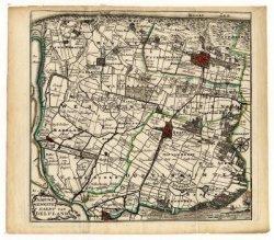 Kaart van het Hoogheemraadschap Delfland met het opschrift: