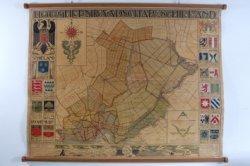Kaart van het Hoogheemraadschap Schieland, vervaardigd door Pieter Willem van Baarsel (1879-1949).