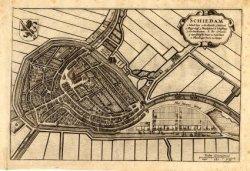 Kaart van Schiedam, overeenkomstig die bij de beschrijving in