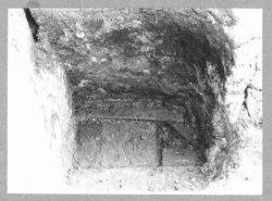 Halfronde waterput met een houten bodem. Boven in de hoek een inlaat. Op de voor-grond was een houten tonput. Deze put was gelegen achter de woningen van de Nieuwstraat en           de Korte Achterweg. Vindplaats 8. 087.020/436.928 Onderzoek: L.Kaal/de Roo Zie tekeningen en rapport en ook beeld nr.13835