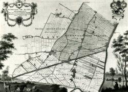 Foto van een plattegrond van de ambachtsheerlijkheid Kethel en Spaland.