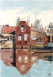 Het Hofje genaamd de Bergerbuurt aan de Lange Nieuwstraat, eens het eigendom van J.R. Sjoer.