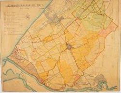 Kaart van de electriciteitsvoorziening vanuit Derlft naar polders in de hoogheemraadschappen Delfland, Rijnland en Schieland.
