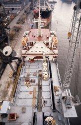Boorschip 'Pelerin' (Co.949) het derde boorschip van IHC Gusto BV (Werf Gusto) uit een serie van vijf. Hier aan de kade in de 'Wilton haven' van de werf Wilton-Fijenoord. Na           de proefvaart werd het schip gedokt bij werf Wilton-Fijenoord voor de laatste checks voor zij definitief opgeleverd zou worden.