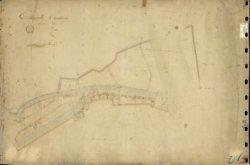 Sectie D van de oudste kadastrale kaart van Schiedam voor zover aanwezig in het Gemeentearchief Schiedam.