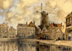 De Raam met gezicht op de Noordmolenstraat en molen De Vrijheid.