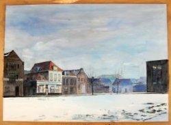 Gezicht op de bebouwing aan de Sint Anna Zusterstraat, met geheel rechts het Wennekerpand en links daarvan het Stadskantoor.