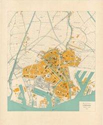 Kaart van de gemeente Schiedam, schaal 1: 10.000, door M.A.H. van de Laarschot, opzichter bij de Dienst Gemeentewerken, opgenomen in de