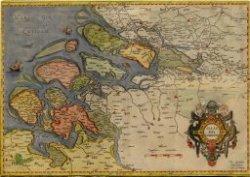 Kaart van Zeeland. In het cartouche: