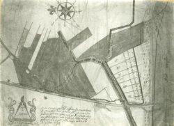 Kaart van landgoed Spieringshoek. Onderaan de tekening staat beschreven