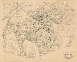 Kaart van de gemeente Schiedam, schaal 1:5000, door M.A.H. van de Laarschot, opzichter bij de Dienst Gemeentewerken, 1935.