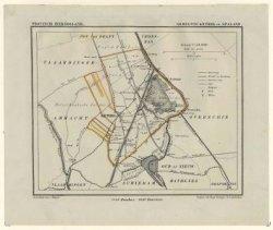 Kaart van de gemeente Kethel en Spaland, Schaal 1:50.000 uit de