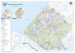 Overzichtskaart van het Hoogheemraadschap van Delfland.