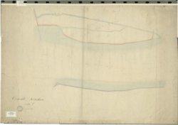 Het tweede blad van sectie E van de oudste kadastrale kaart van Schiedam voor zover aanwezig in het Gemeentearchief Schiedam.