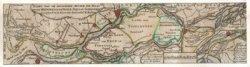 Kaart van de Maas en de Merwede. In het cartouche bovenin de kaart: