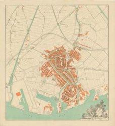 Kaart van de gemeente Schiedam, schaal 1:10.000, opgenomen in het boekje