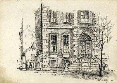 Het Kantongerecht, voorheen huis van Nolet, aan de Lange Haven 65.