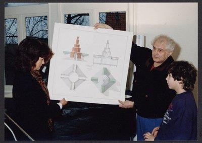FA: Officiële opening van het Monumento Urbano van Aldo Rossi door Jan Wolkers op 25 januari 1991
