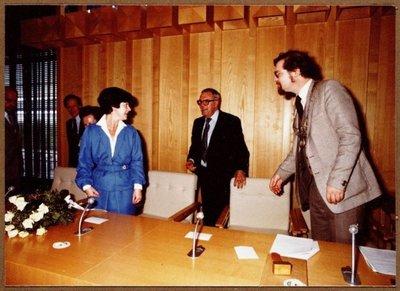 FA: Installlatie burgemeester A.J. Lems Bannehof te Zaandijk 1979