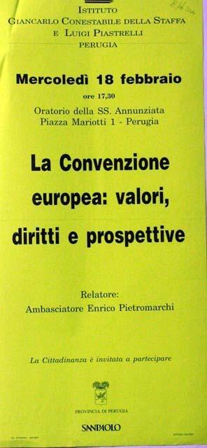 La Convenzione europea: valori, diritti, prospettive