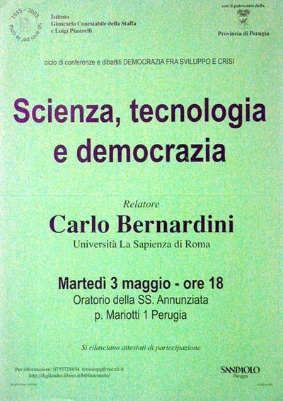 Scienza, tecnologia e democrazia