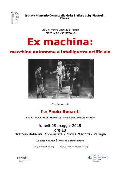 Ex machina: macchine autonome e intelligenza artificiale