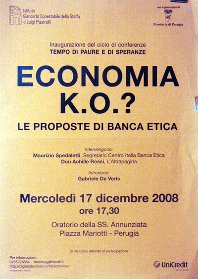 Economia è k.o.? Le proposte di Banca Etica