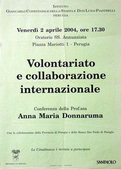 Volontariato e collaborazione internazionale