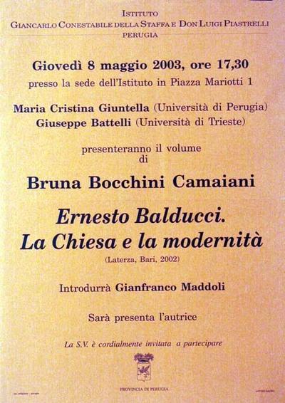 Ernesto Balducci. La Chiesa e la modernità