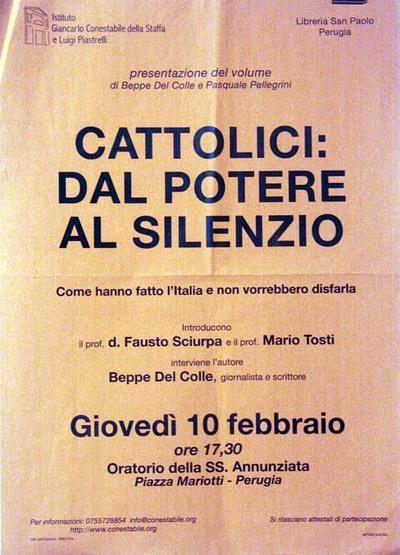 Cattolici: dal potere al silenzio
